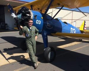 Stearman pilot Brian Rosenstein