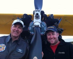 Stearman pilots David Brown and Brian Rosenstein