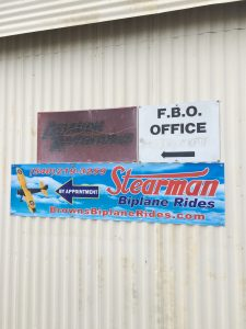 Stearman Rides sign